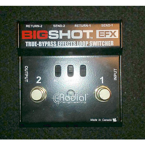 Radial Engineering Bigshot True Bypass FX Loop Switcher Pedal-thumbnail