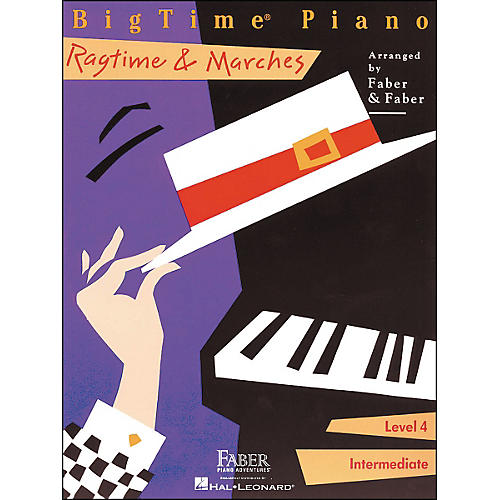 Faber Piano Adventures Bigtime Piano Ragtime & Marches Level 4 Intermediate - Faber Piano-thumbnail