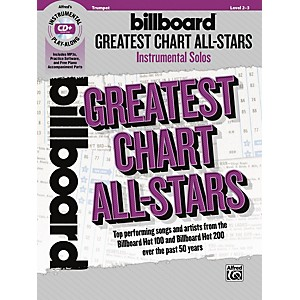 Alfred Billboard Greatest Chart All-Stars Instrumental Solos Trumpet Book &... by Alfred