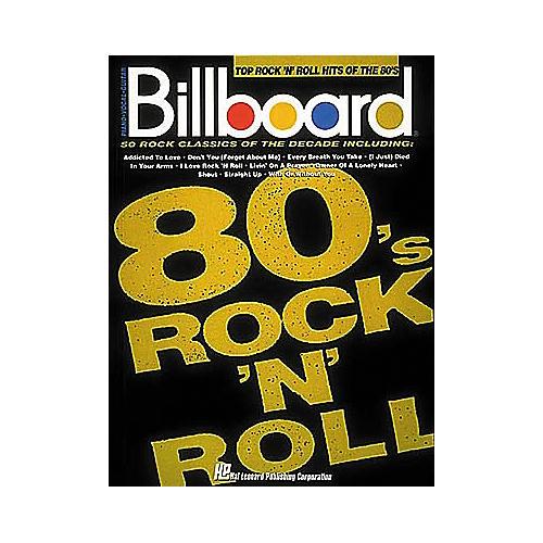 Hal Leonard Billboard Top Rock 'n Roll Hits of the 80's (Songbook)