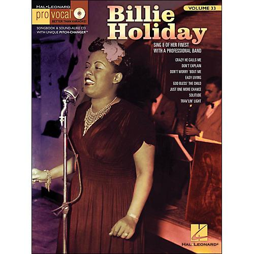 Hal Leonard Billie Holiday Pro Vocal Songbook & CD for Female Singers Volume 33