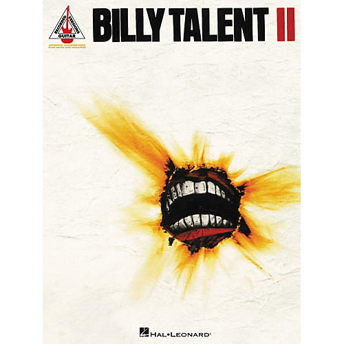 Hal Leonard Billy Talent II Guitar Tab Songbook