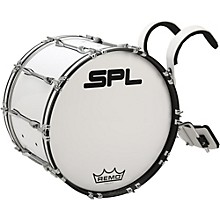 Sound Percussion Labs Birch Marching Bass Drum with Carrier Level 1 24 x 14 in. White