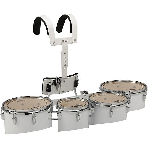 Sound Percussion Labs Birch Marching Tenor Drum with Carriers Quad with Carrier 8 in.,10 in.,12 in.,13 in. White