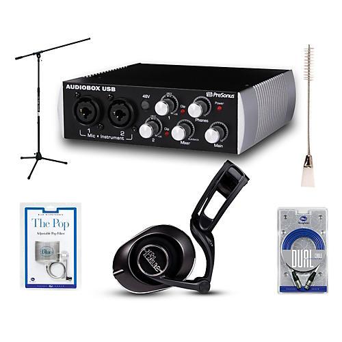 Presonus Black Audiobox Black Lola Headphones and Spark Mic Package