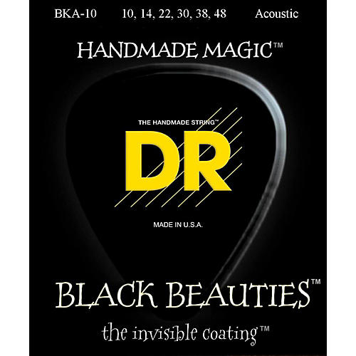 DR Strings Black Beauties Acoustic Guitar Strings Extra Lite-thumbnail