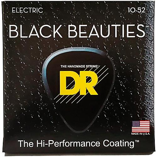 DR Strings Black Beauties Coated Electric Strings Medium-Heavy (10-52)-thumbnail