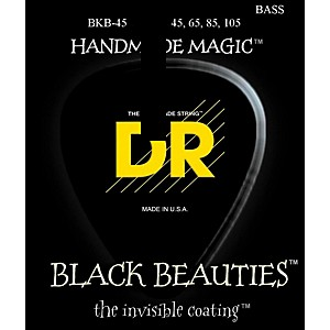 DR Strings Black Beauties Medium 4 String Bass Strings by DR Strings