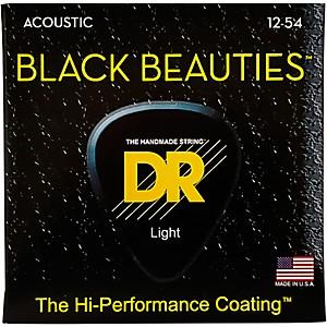 DR Strings Black Beauties Medium Acoustic Guitar Strings by DR Strings