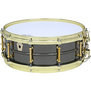 Ludwig Black Beauty Brass on Brass Snare Drum by Ludwig