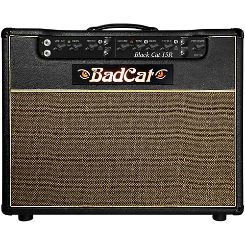 Bad Cat Black Cat 15w 1x12 Guitar Combo Amp with Reverb-thumbnail