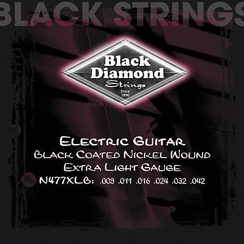 Black Diamond Black Coated Nickel Electric Guitar Strings