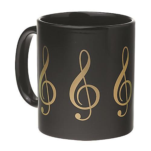 AIM Black/Gold Treble Clef Coffee Mug Guitar Center