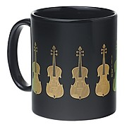 Black/Gold Violin Coffee Mug