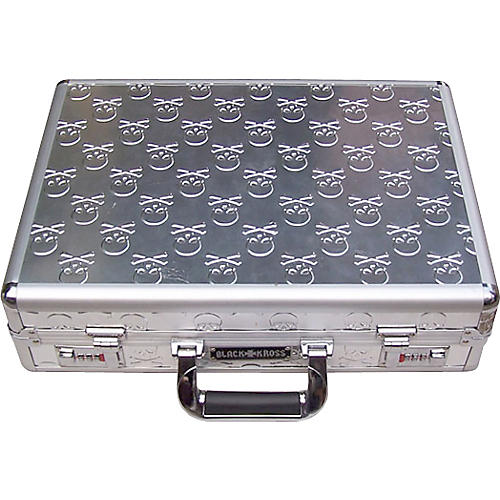 Coffin Case Black Kross Skull-Plated Briefcase