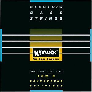 Warwick Black Label 4 String Low B Nickel Bass Strings by Warwick