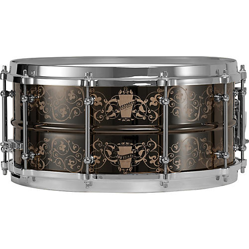 Ludwig Black Magic 100th Anniversary Snare Drum-thumbnail
