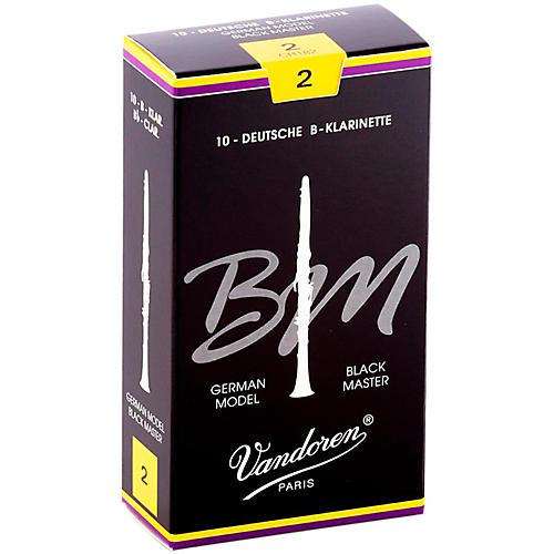 Vandoren Black Master Bb Clarinet Reeds Strength 2, Box of 10