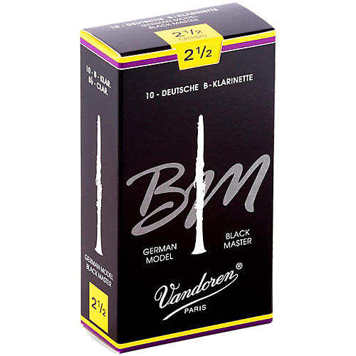Vandoren Black Master Bb Clarinet Reeds Strength 2.5, Box of 10