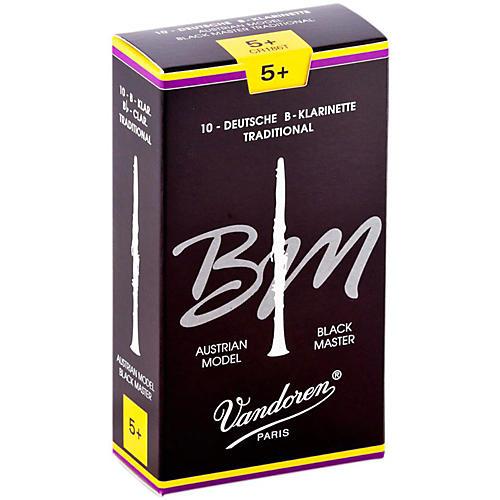 Vandoren Black Master Traditional Bb Clarinet Reeds Box of 10, Strength 5+
