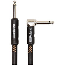 "Roland Black Series 1/4"" Angled/Straight Instrument Cable"