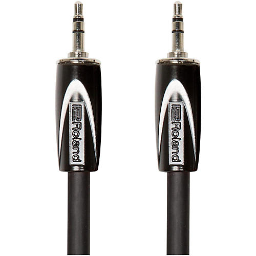 Roland Black Series 3.5mm TRS-3.5mm TRS Balanced Interconnect Cable