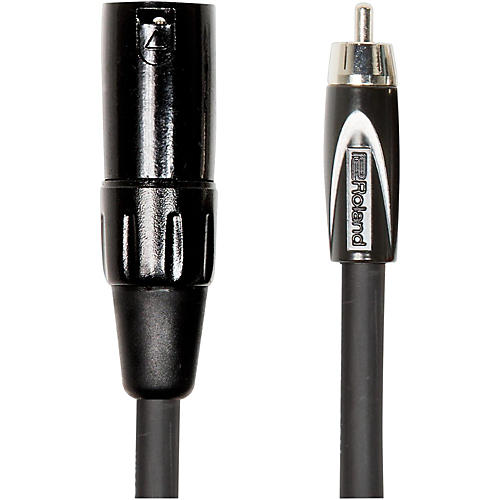 Roland Black Series XLR (Male) - RCA Interconnect Cable-thumbnail