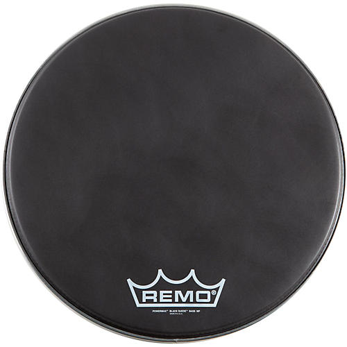 Remo Black Suede PowerMax Marching Bass Drumhead Matte Black 26
