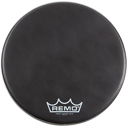 Remo Black Suede PowerMax Series Bass Drumhead Matte Black 24