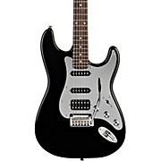 Squier Black and Chrome Fat Strat Electric Guitar