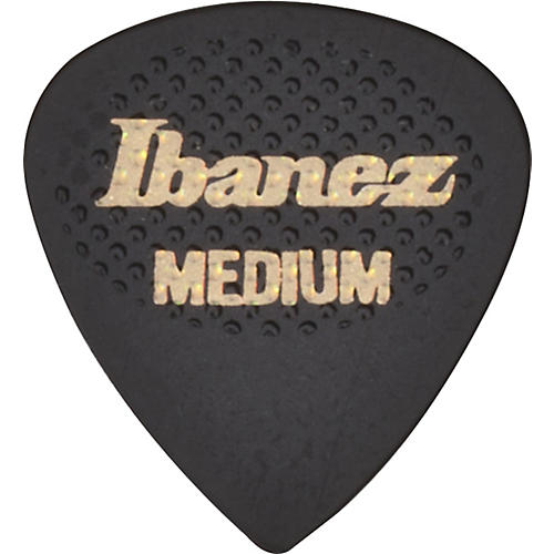 Ibanez Black and White Rubber Grip Wizard Picks 6-Pack