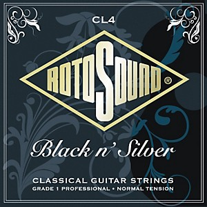 Rotosound Black n Silver Tie-On Normal Tension Classical Guitar Strings by Rotosound