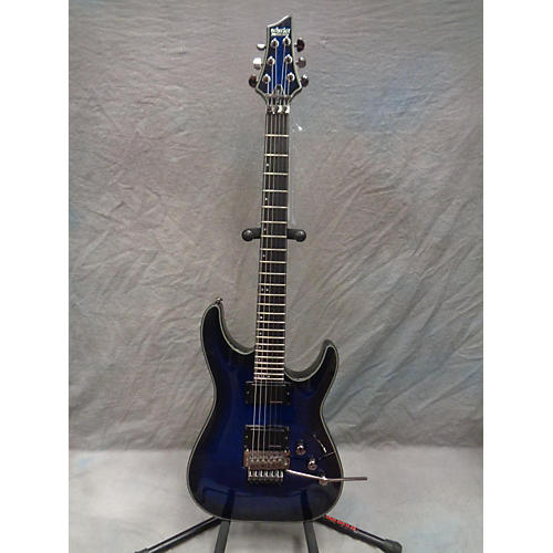 Schecter Guitar Research Blackjack C1 Floyd Rose Solid Body Electric Guitar Trans Blue