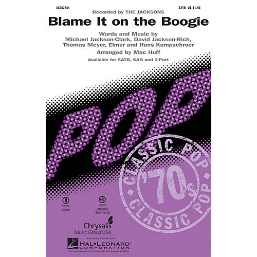 Hal Leonard Blame It on the Boogie ShowTrax CD by Michael Jackson Arranged by Mac Huff
