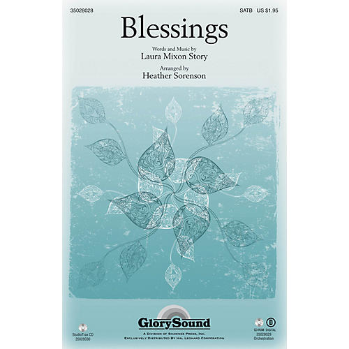 Shawnee Press Blessings SATB arranged by Heather Sorenson