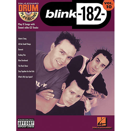 Hal Leonard Blink 182 Drum Play-Along Series Volume 10 (Book/CD)-thumbnail