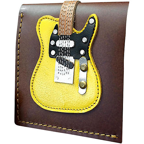 Axe Heaven Blonde Electric Guitar Wallet - Handmade - Genuine Leather-thumbnail
