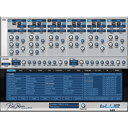 Rob Papen Blue FM Synthesis Virtual Synth Software Download