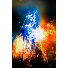 Carl Palmer's Drum Art Blue Mountain Fire by SceneFour