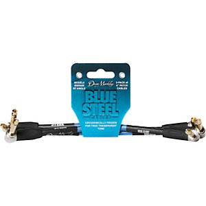 Dean Markley Blue Steel Cables 3 Pack, Right Angle/Right Angle by Dean Markley