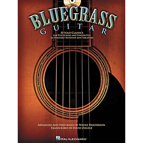 hal leonard bluegrass guitar 10 solo classics for flatpicking and fingerstyle book cd. Black Bedroom Furniture Sets. Home Design Ideas