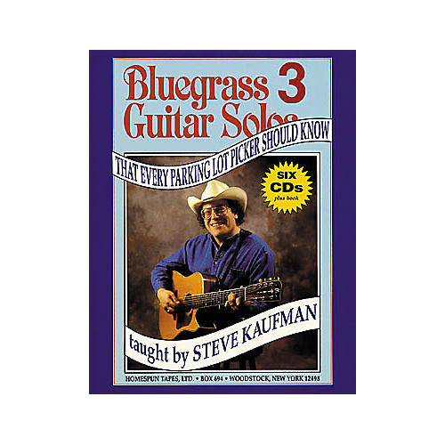 Homespun Bluegrass Guitar Solos That Every Parking Lot Picker Should Know 3 (Book/CD)-thumbnail