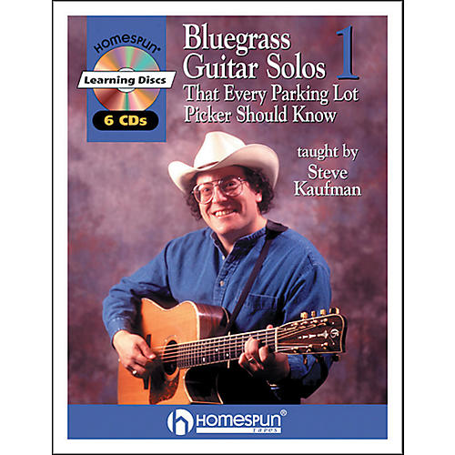 Homespun Bluegrass Guitar Solos That Every Parking Lot Picker Should Know (Series 1) Book/6 CD's-thumbnail