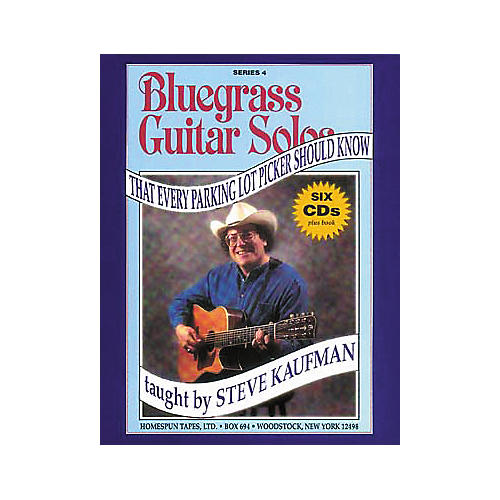 Homespun Bluegrass Guitar Solos That Every Parking Lot Picker Should Know Series 4 (Book/CD)