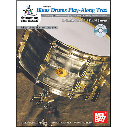 Mel Bay Blues Drums Play-Along Trax Book and CD-thumbnail