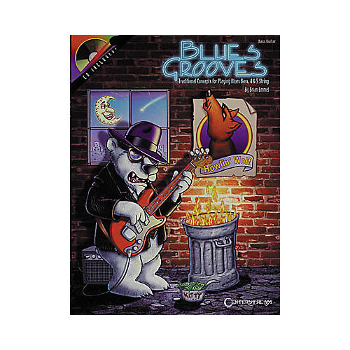 Centerstream Publishing Blues Grooves for Bass (Book/CD)