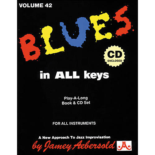 Jamey Aebersold Blues In All Keys Book and CD-thumbnail