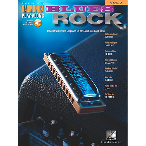 Hal Leonard Blues Rock - Harmonica Play-Along Series, Volume 3 (Book/CD)-thumbnail