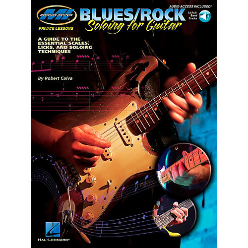 Musicians Institute Blues/Rock Soloing for Guitar (Book/CD)-thumbnail
