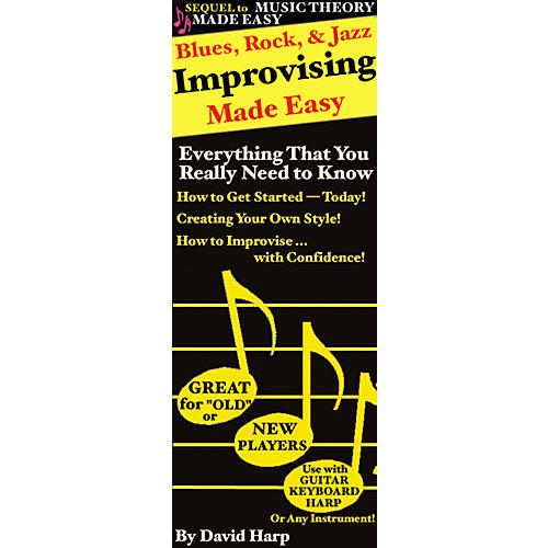 Music Sales Blues, Rock and Jazz Improvising Made Easy Harmonica (Book)